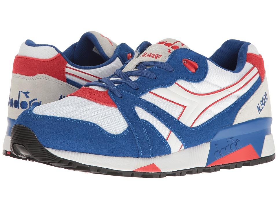Diadora N9000 NYL (True Blue/Poppy Red) Athletic Shoes