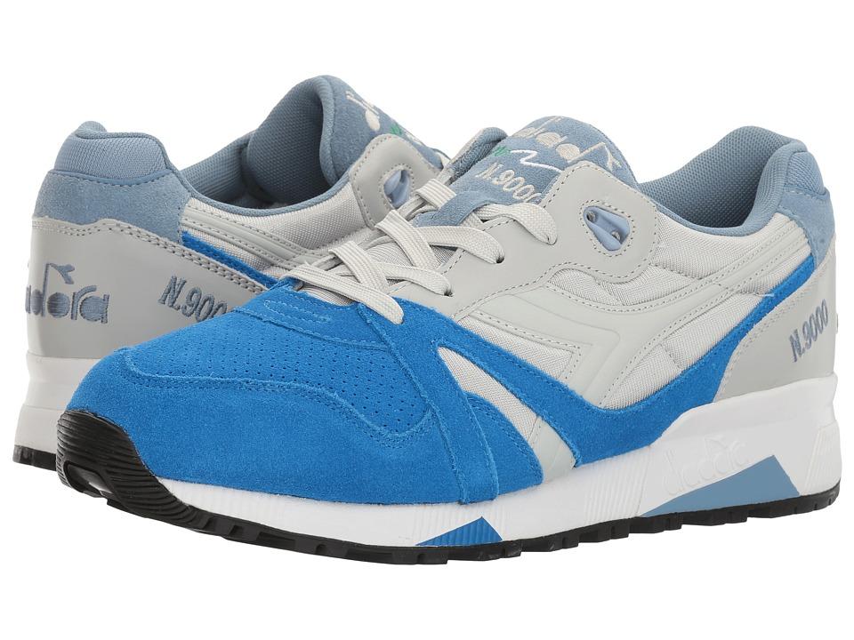 Diadora - N9000 Double L (Micro Chip Grey/Skydiver Blue) Men's Shoes