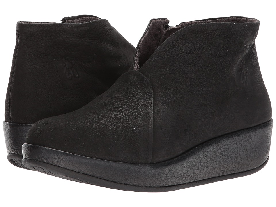 FLY LONDON Brio784Fly (Black Cupido/Mousse) Women