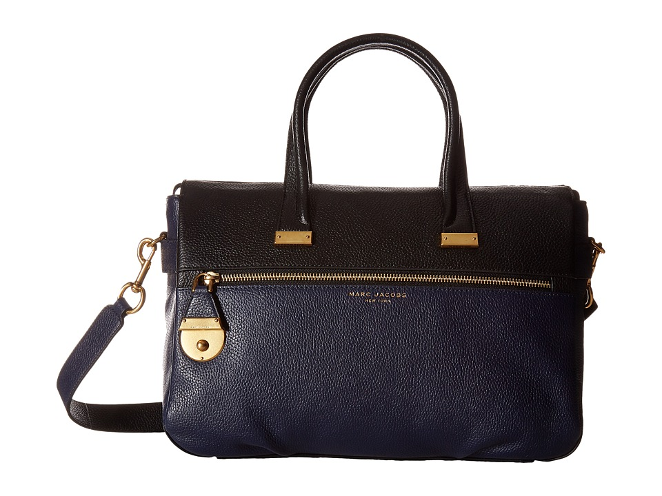 Marc Jacobs - The Standard Medium East/West Tote (Midnight Blue Multi) Tote Handbags