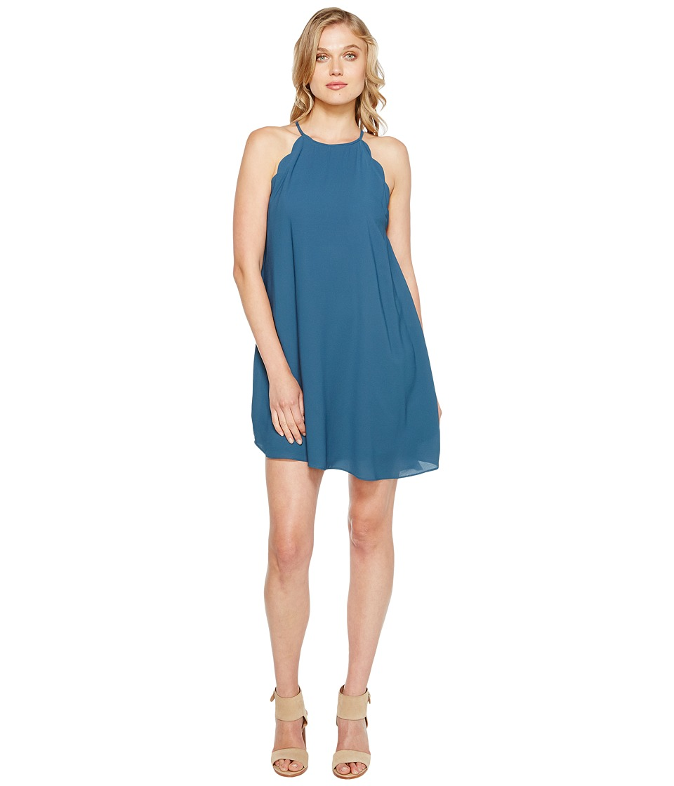 Brigitte Bailey - Denyse Spaghetti Strap Scalloped Dress (Teal) Women's Dress
