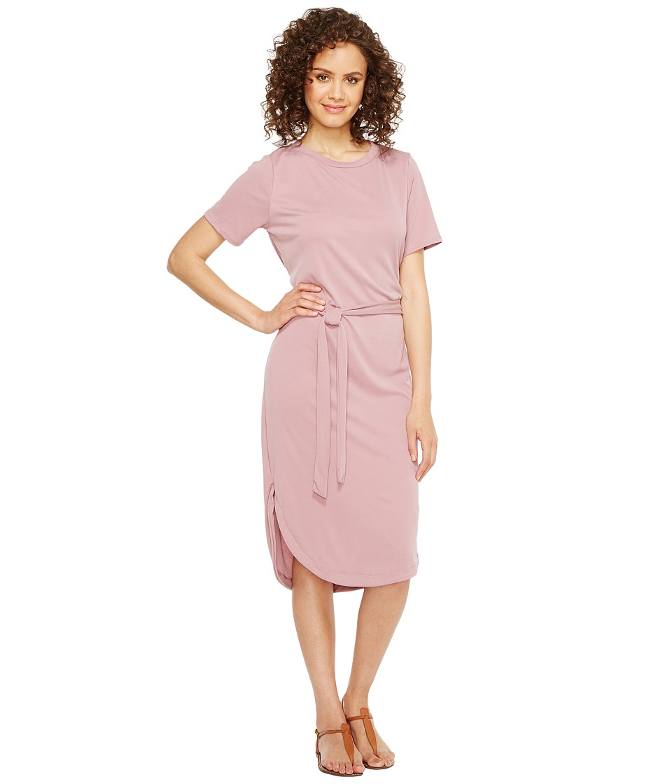 Culture Phit - Arlene Short Sleeve Midi Dress with Front Tie (Pale Lilac) Women's Dress