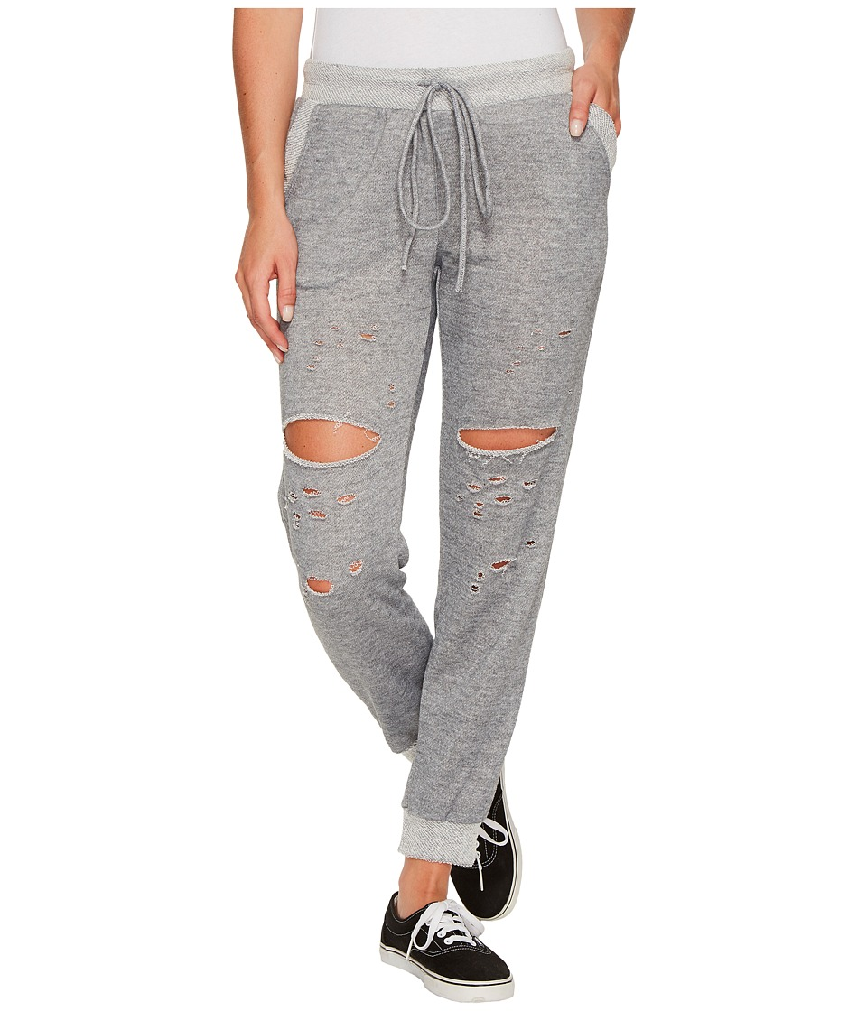 Culture Phit - Robyn Drawstring Distressed Joggers (Heather Grey) Women's Casual Pants