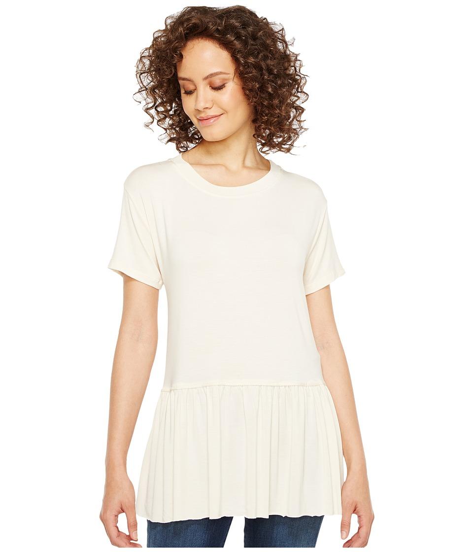 Culture Phit Georgia Short Sleeve Babydoll Top (Cream) Women