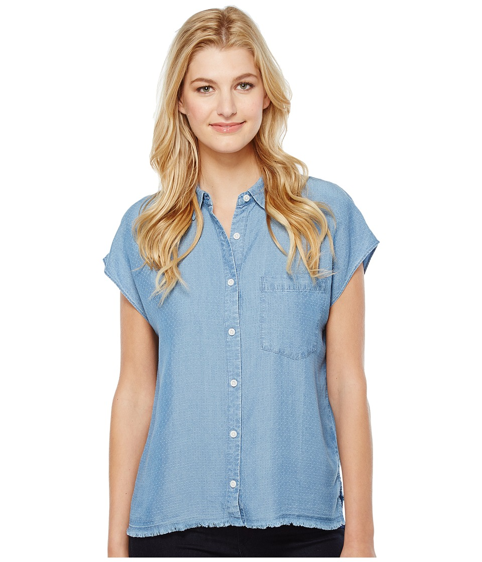 Joe's Jeans - Alexandria Short Sleeve Shirt (Light Stonewash) Women's Clothing