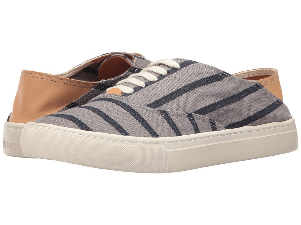 Soludos - Striped Classic Sneaker (Gray/Navy) Men's Shoes