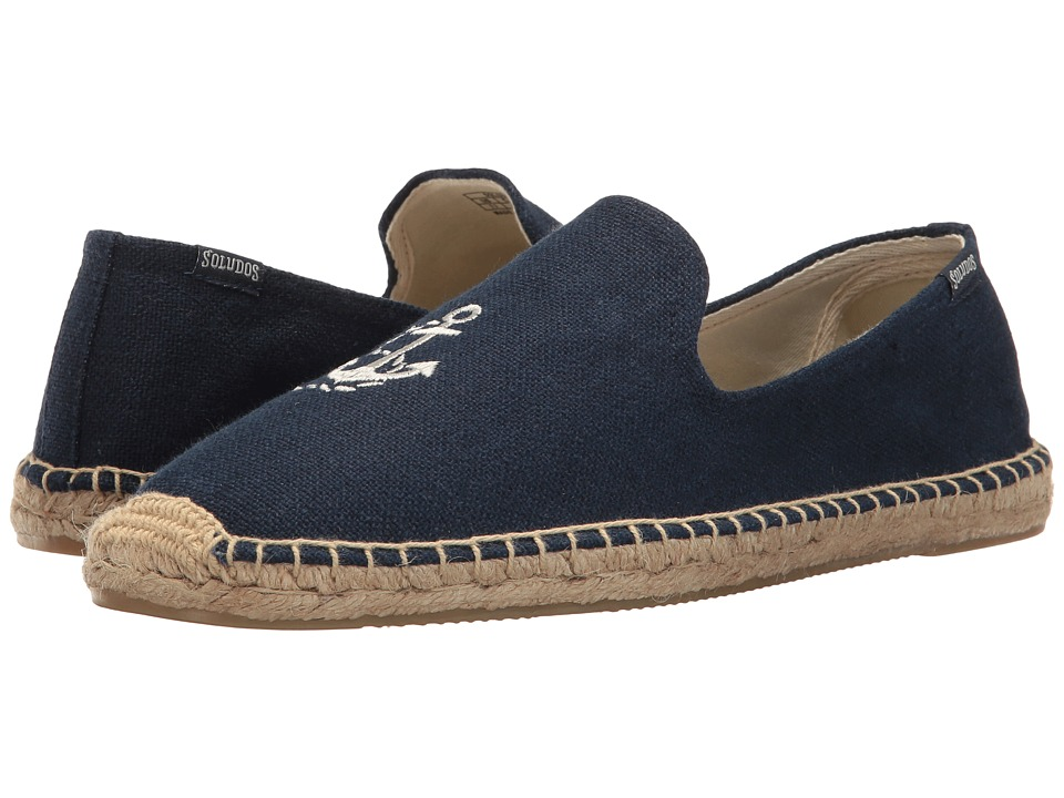 Soludos - Anchor Smoking Slipper (Midnight Blue) Men's Shoes