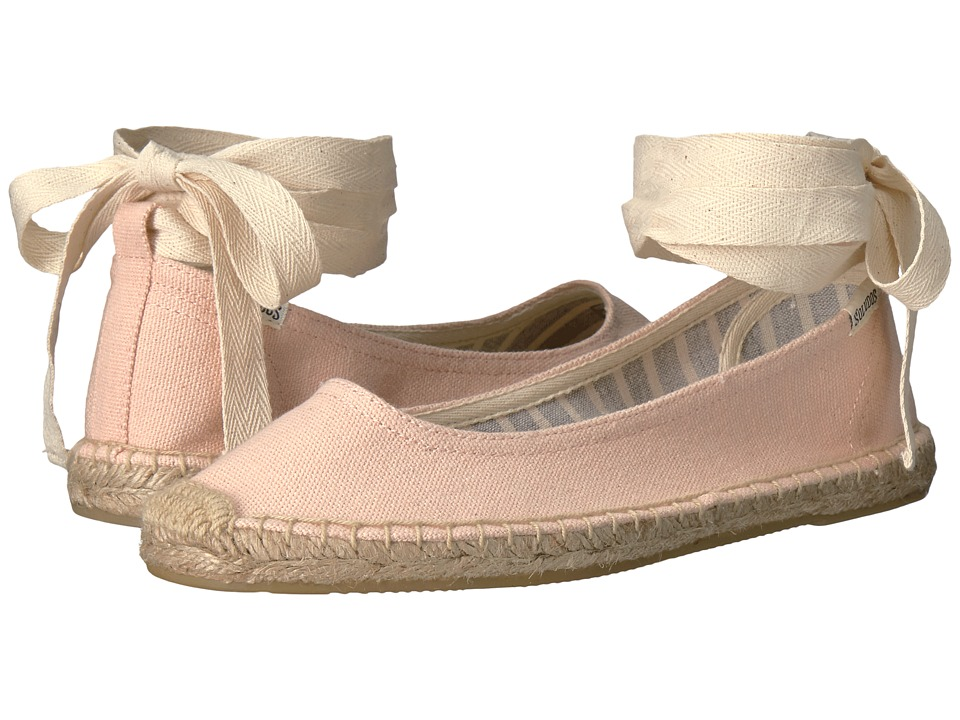 Soludos Ballet Tie Up (Soft Rose) Women