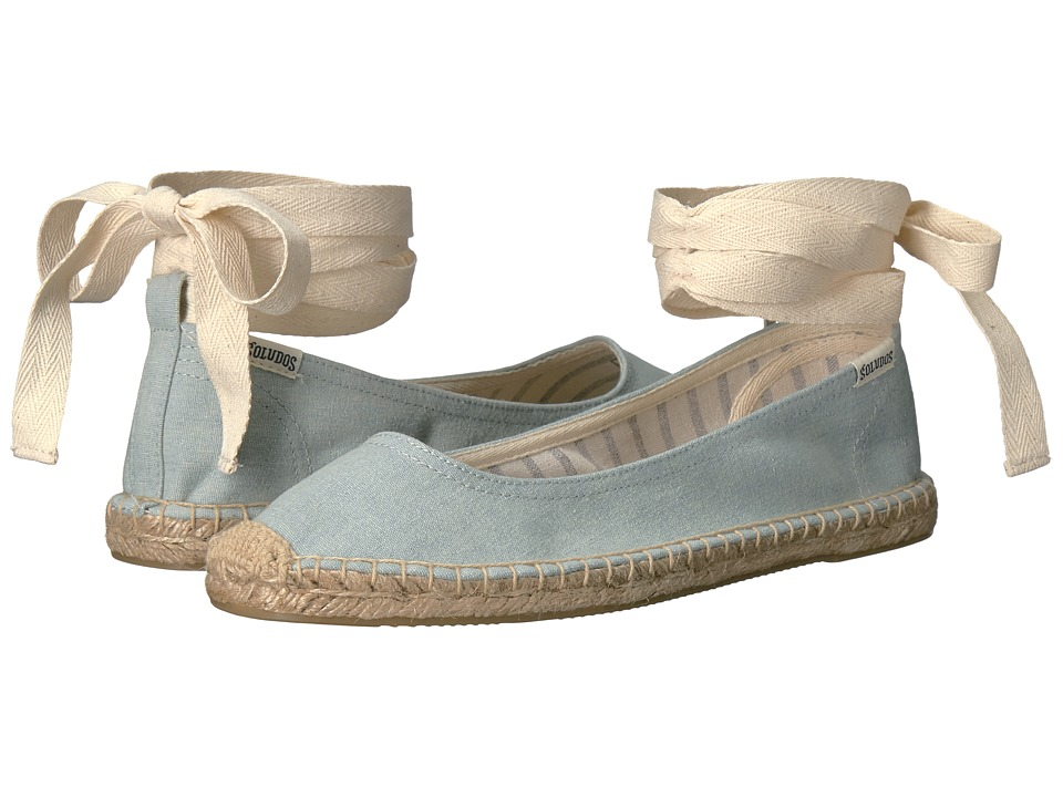 Soludos - Ballet Tie Up (Chambray) Women's Shoes