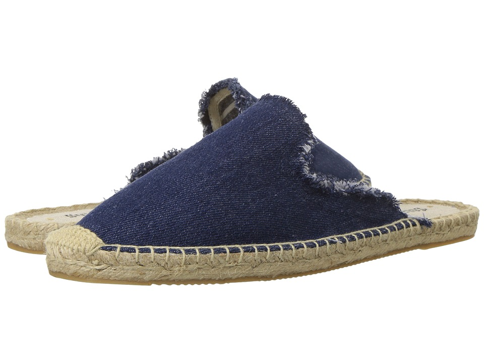 Soludos - Frayed Mule (Dark Denim) Women's Clog/Mule Shoes