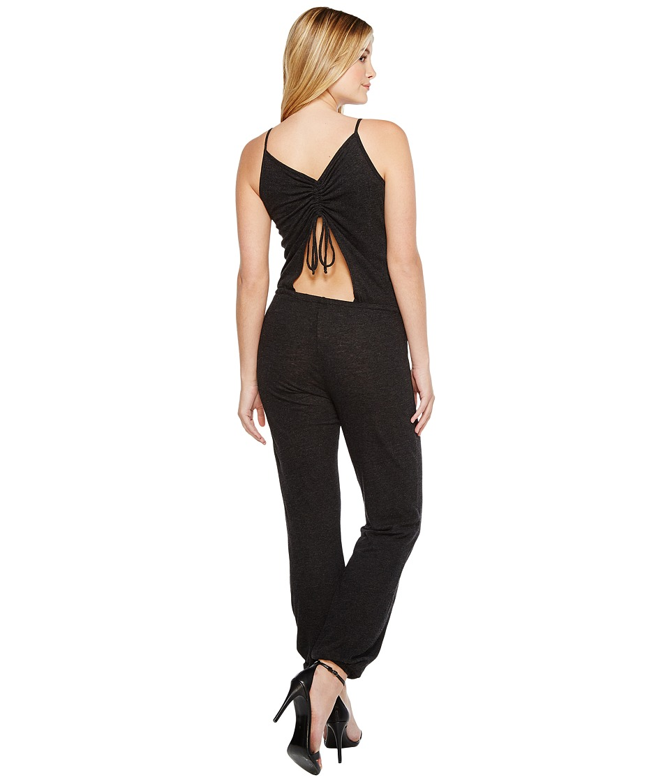 Lanston - Drawstring Back Jumpsuit (Black) Women's Jumpsuit & Rompers One Piece