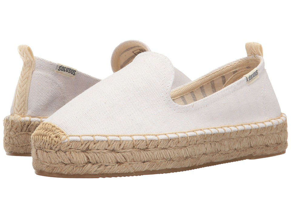 Soludos Platform Smoking Slipper (White) Women