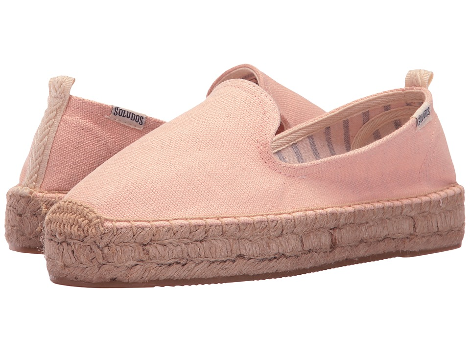 Soludos - Platform Smoking Slipper (Soft Rose) Women's Slip on Shoes