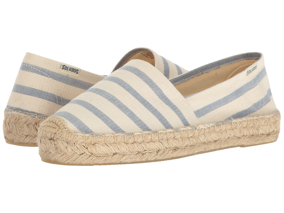 Soludos Striped Original Platform (Natural/Blue) Women
