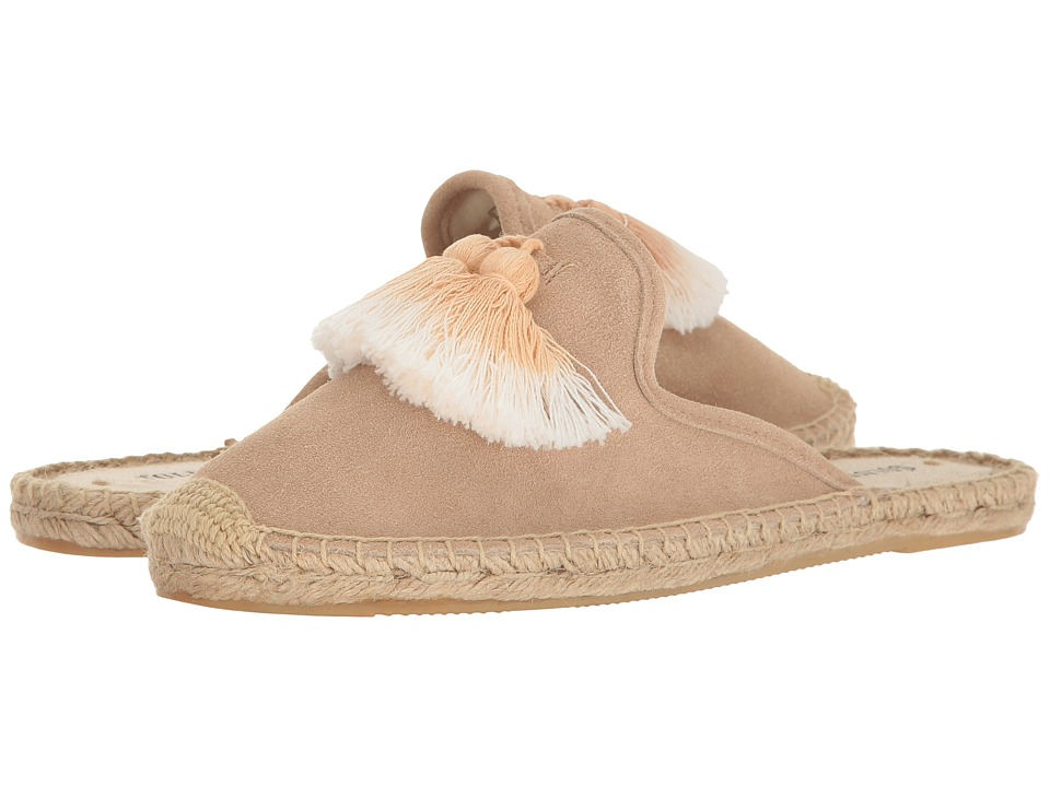 Soludos - Tassel Mule (Cream) Women's Clog/Mule Shoes