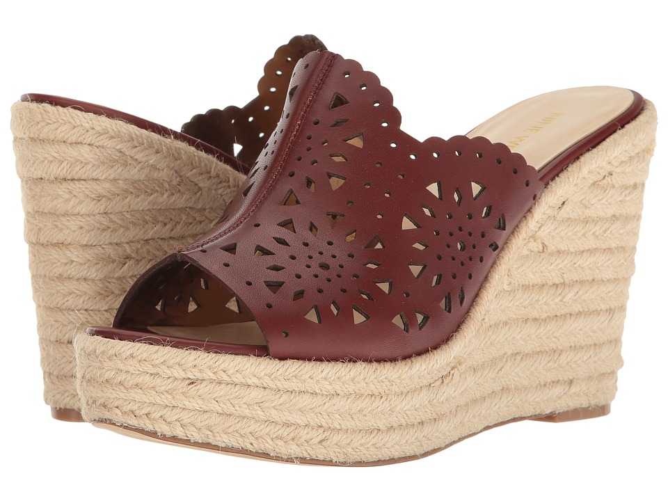 Nine West - Derek (Cognac Leather) Women's Wedge Shoes