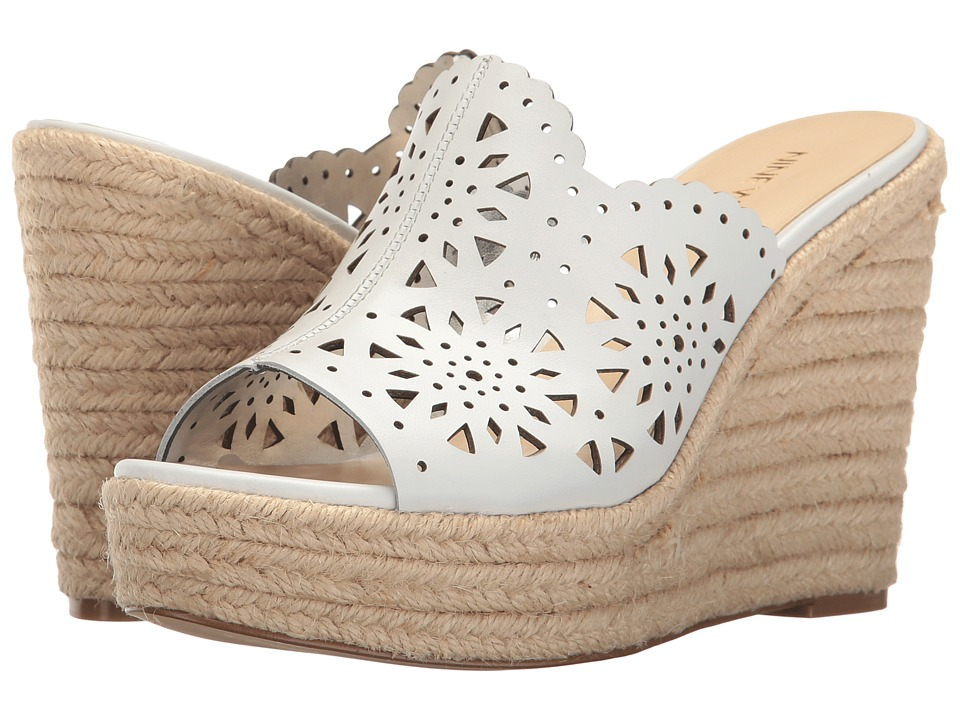 Nine West - Derek (White Leather) Women's Wedge Shoes