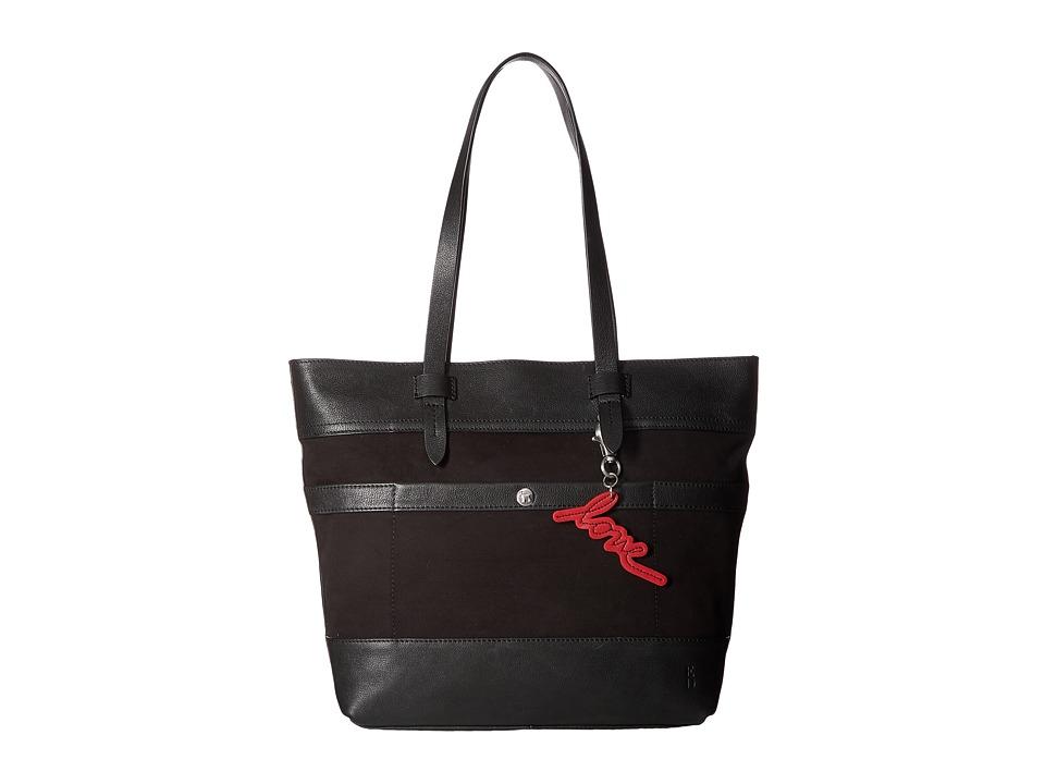ED Ellen DeGeneres - Carmel Tote (Black/Black) Tote Handbags