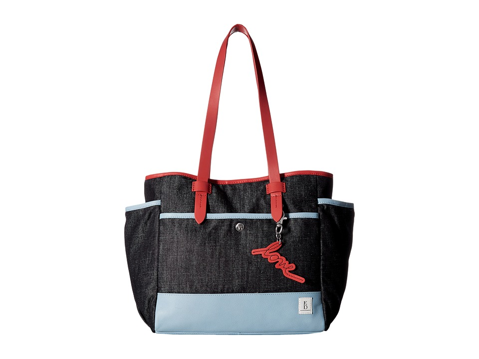 ED Ellen DeGeneres - Carmel Tote (Dark Denim) Tote Handbags