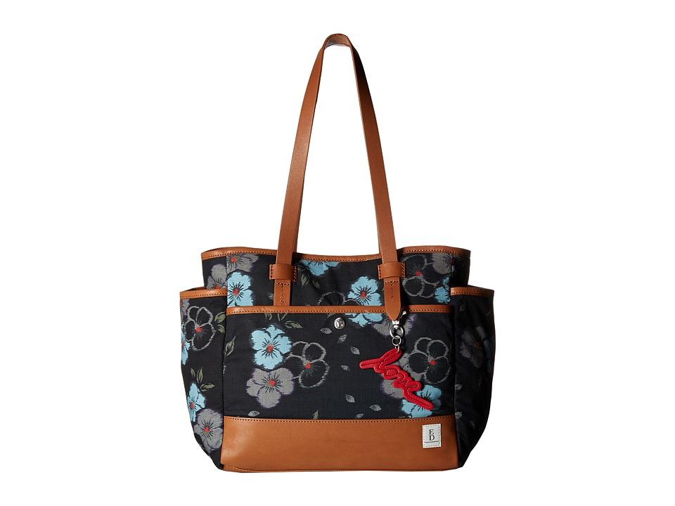 ED Ellen DeGeneres - Carmel Tote (Floral Ikat/Honey) Tote Handbags
