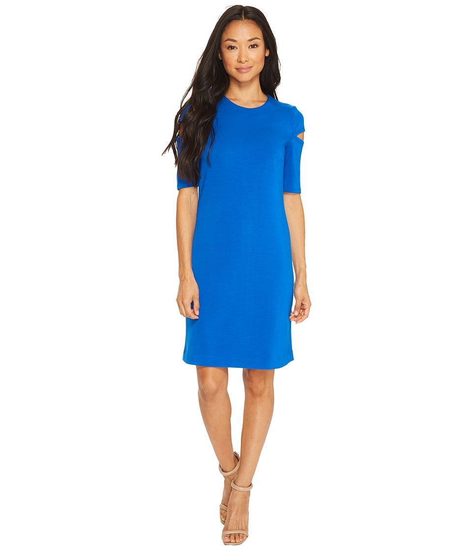 Calvin Klein Arm Cut Out Short Sleeve Sheath Dress