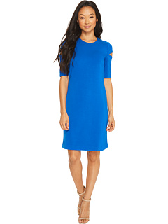 Arm Cut Out Short Sleeve Sheath Dress by Calvin Klein