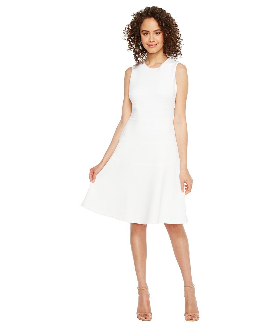 Calvin Klein Fit Flare Dress (White) Women