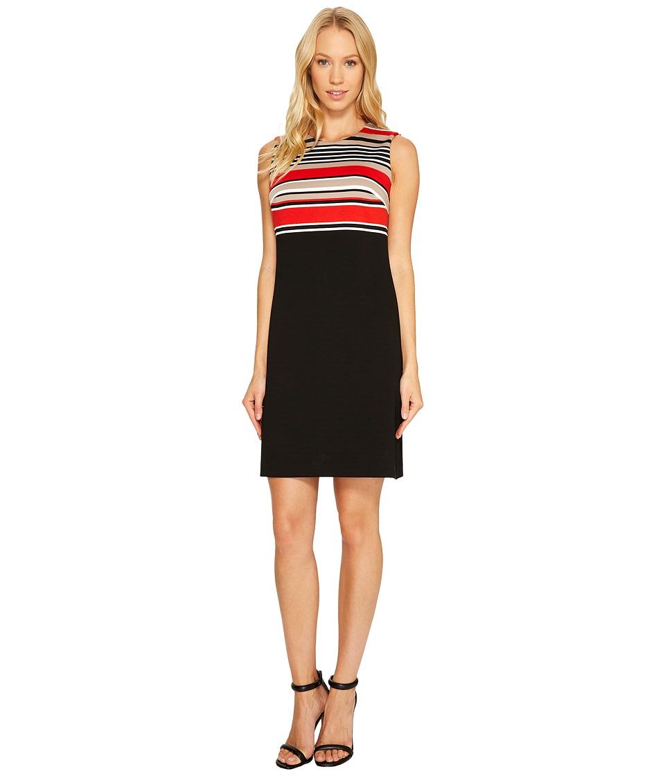 Calvin Klein Stripe Bodice Sheath Dress