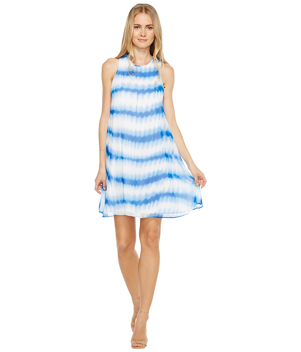 Calvin Klein - Stripe Print Trapeze Dress (Regatta Multi) Women's Dress