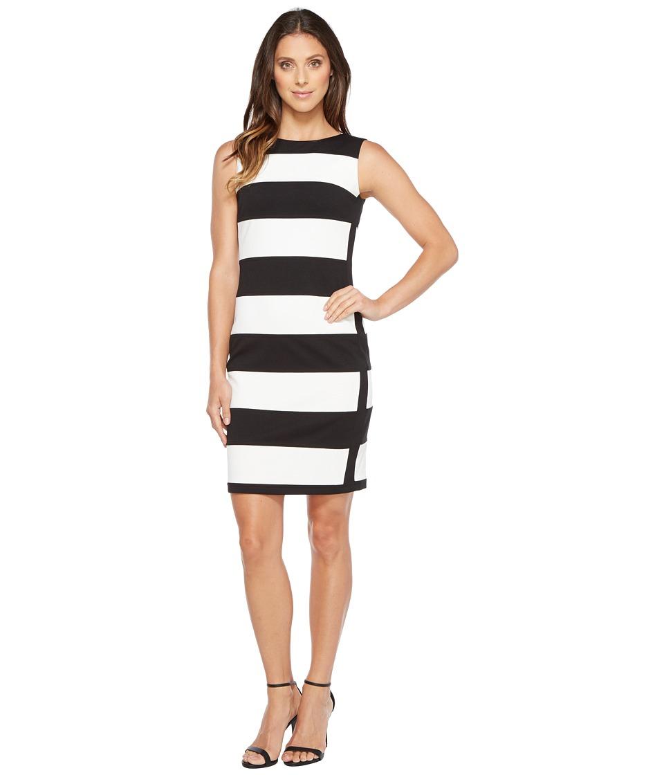 Calvin Klein Stripe Ponte Sheath Dress