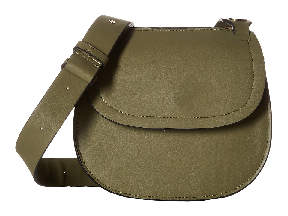 French Connection - Celia Saddle Bag (Burnt Olive) Shoulder Handbags