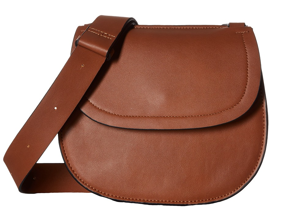 French Connection - Celia Saddle Bag (Nutmeg) Shoulder Handbags