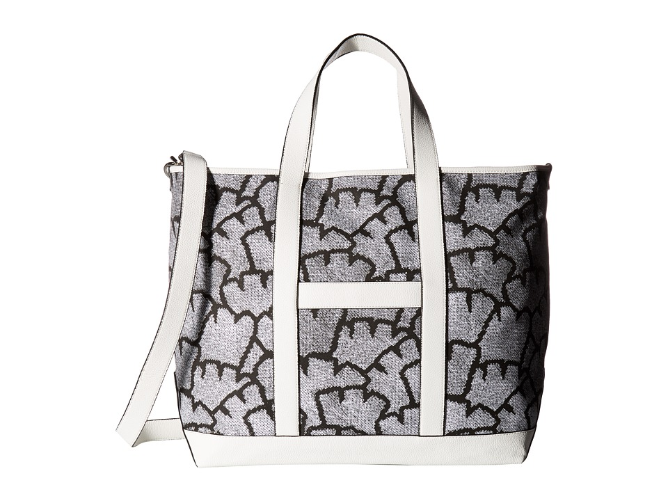 French Connection - Isla Large Tote (Remy Stripe/White) Tote Handbags