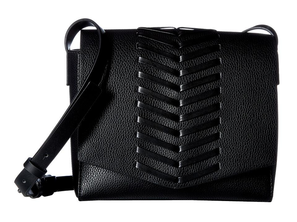 French Connection - Emory Crossbody Flap (Black) Cross Body Handbags