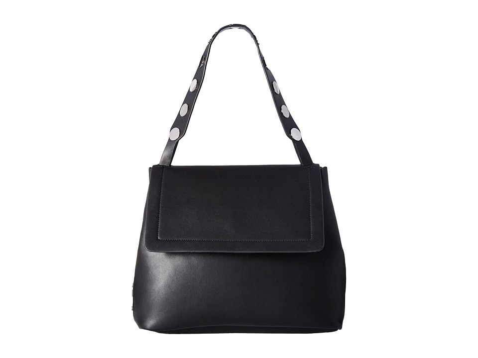 French Connection - Celia Large Flap (Black) Handbags