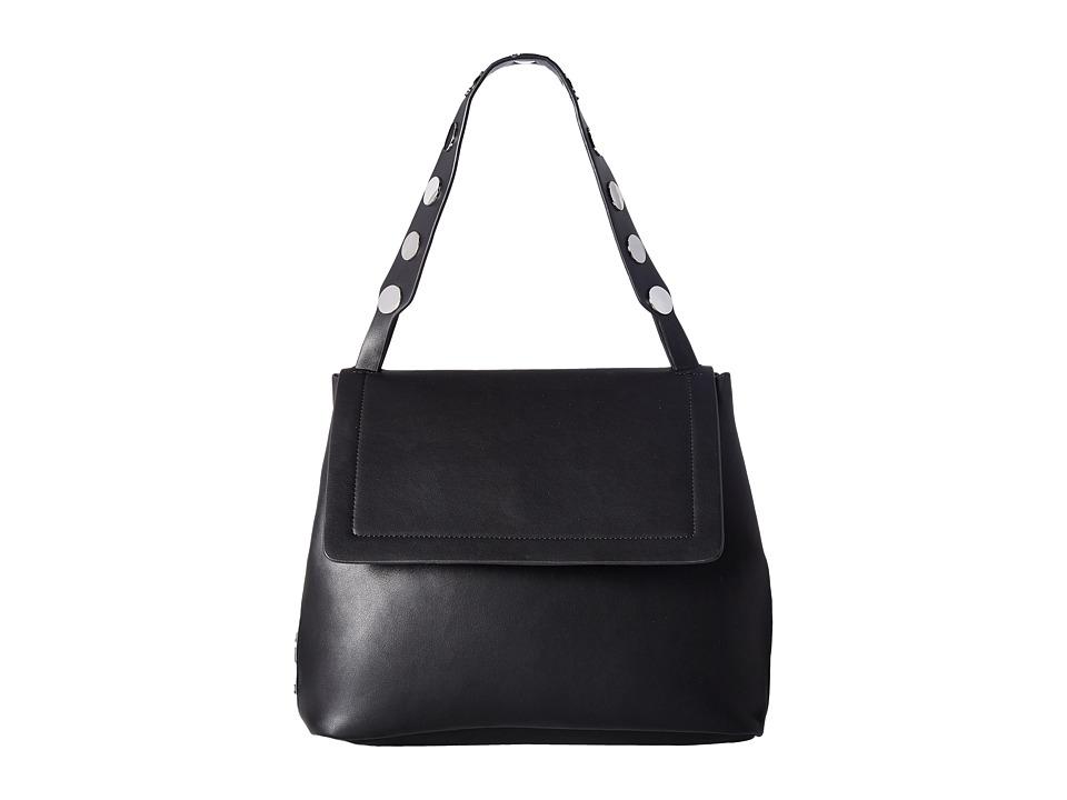 French Connection - Celia Large Flap (Black) Handbags