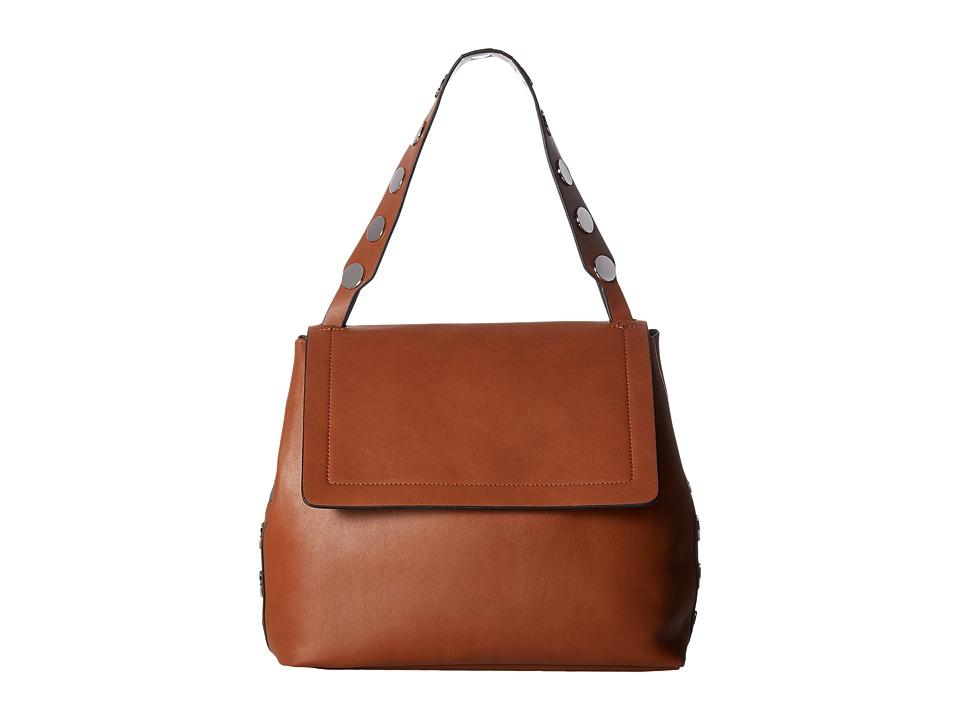 French Connection - Celia Large Flap (Nutmeg) Handbags