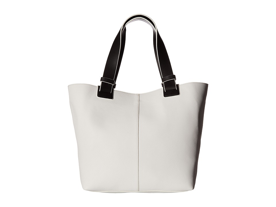French Connection - Noa Tote (Black/Summer White) Tote Handbags