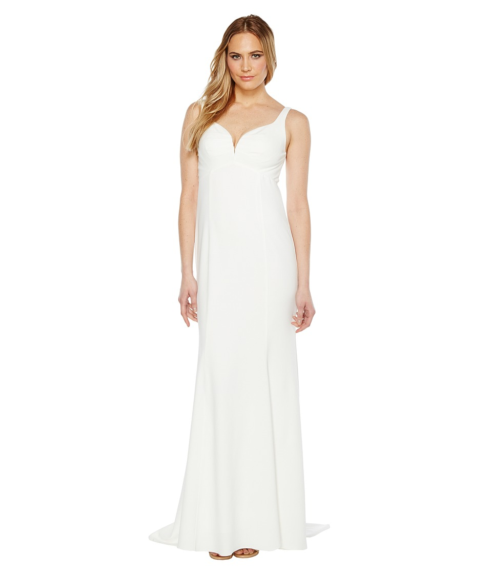 Adrianna Papell - Knit Crepe Gown (Ivory) Women's Dress