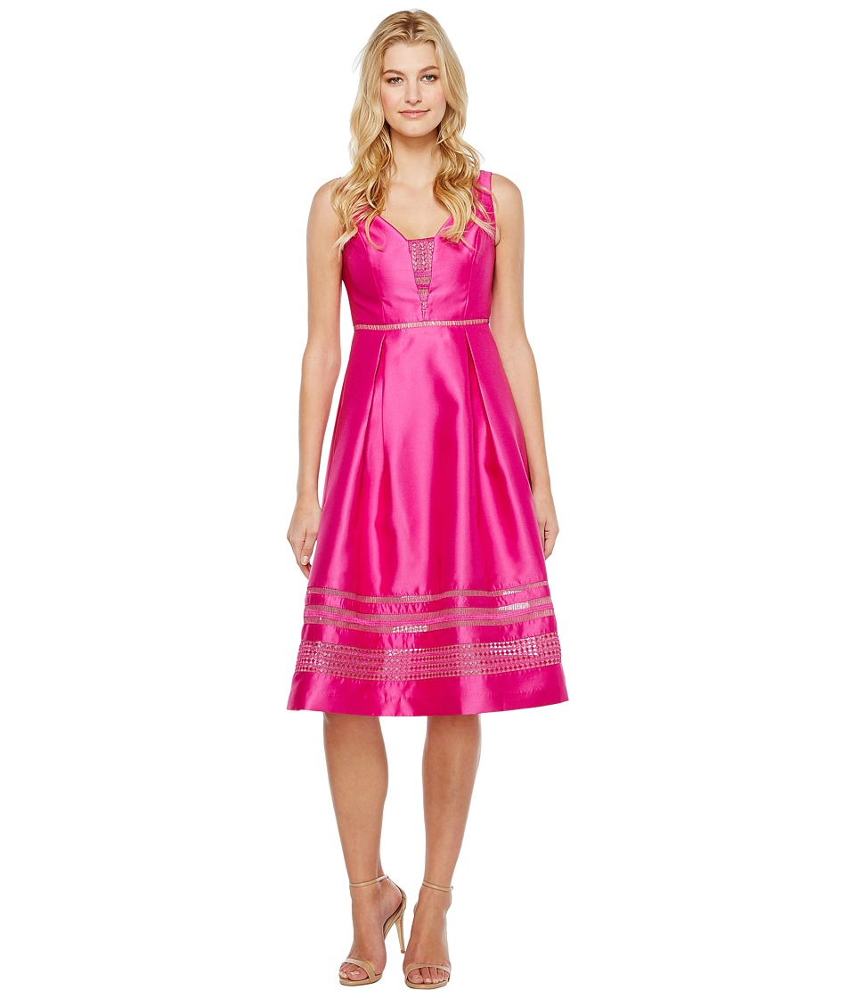 Adrianna Papell - Mikado and Lace Cocktail Dress (Cool Magenta) Women's Dress