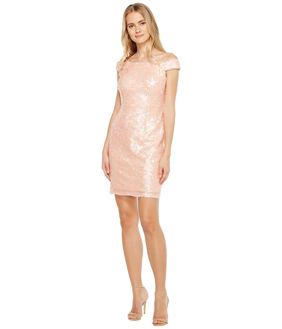 Adrianna Papell - Sequin Sheath Dress (Desert Flower Multi) Women's Dress