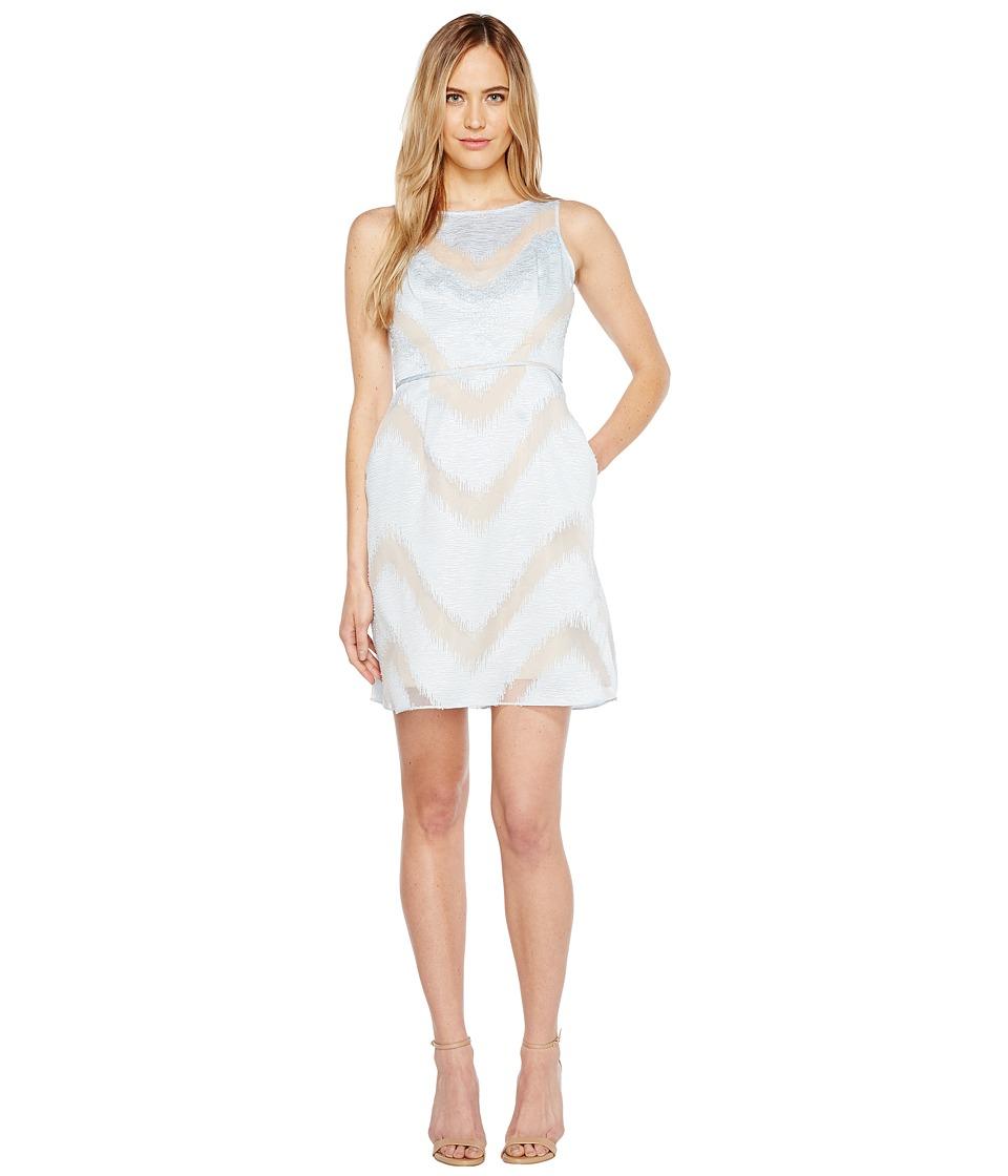 Adrianna Papell - Organza Halter A-Line Dress (Ice) Women's Dress