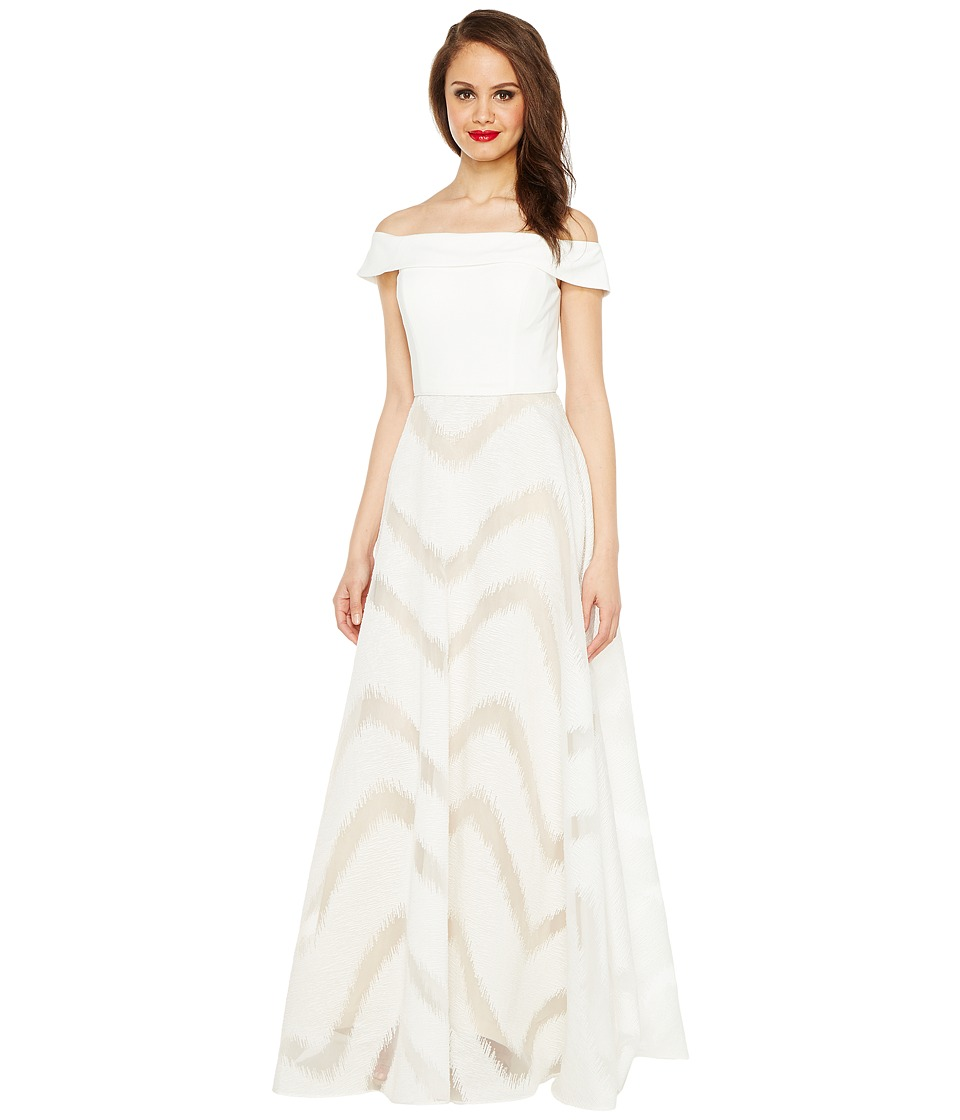 Adrianna Papell Organza Full Circle Skirt Dress