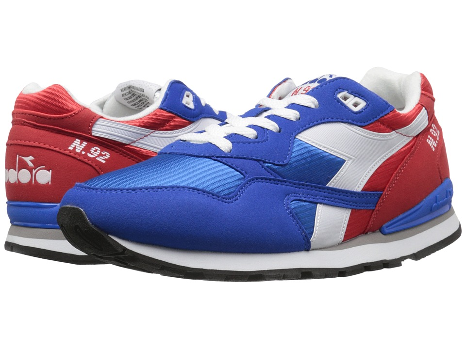 Diadora - N-92 (Poppy Red/Imperial Blue) Men's Shoes
