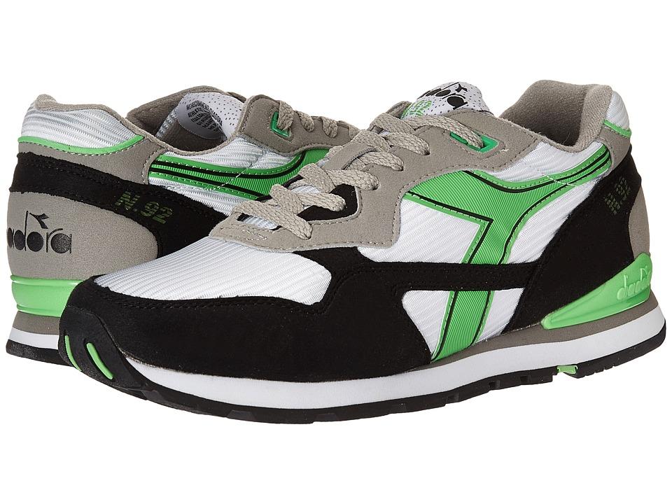 Diadora - N-92 (White/Green Fluorescent) Men's Shoes