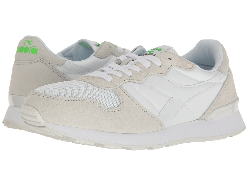 Diadora - Camaro (White/Green Flourescent) Athletic Shoes