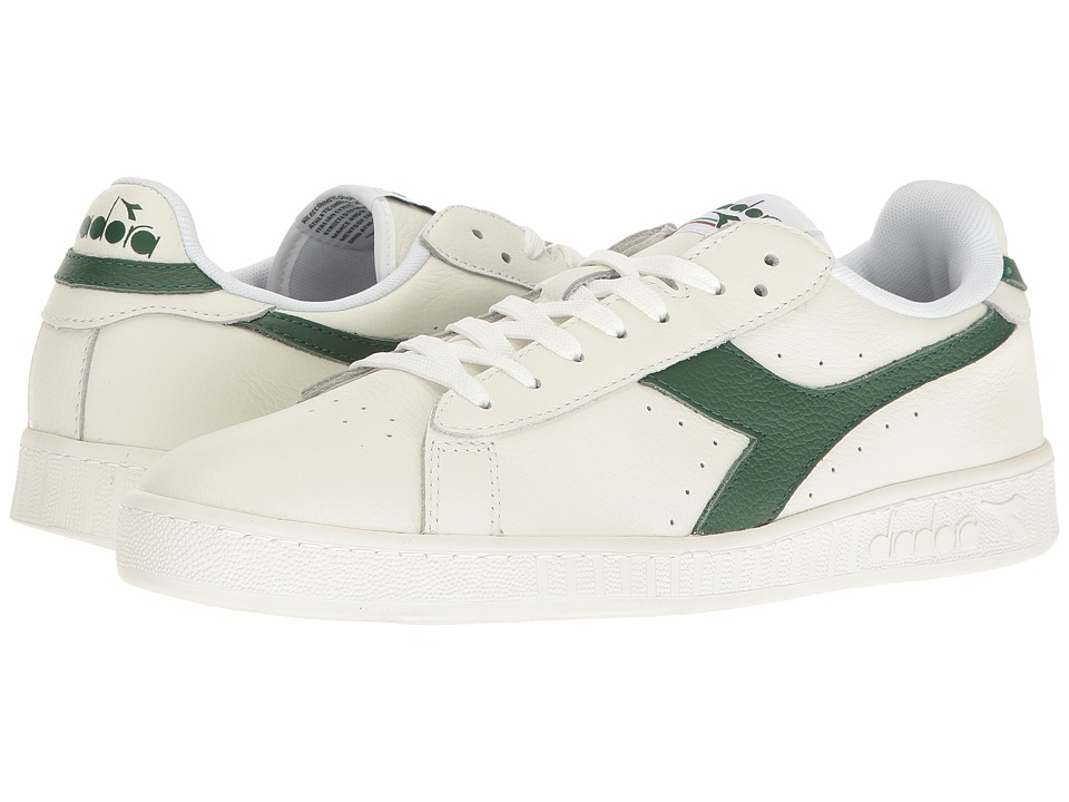 Diadora Game L Low Waxed (White/Greener Pastures/White) Athletic Shoes