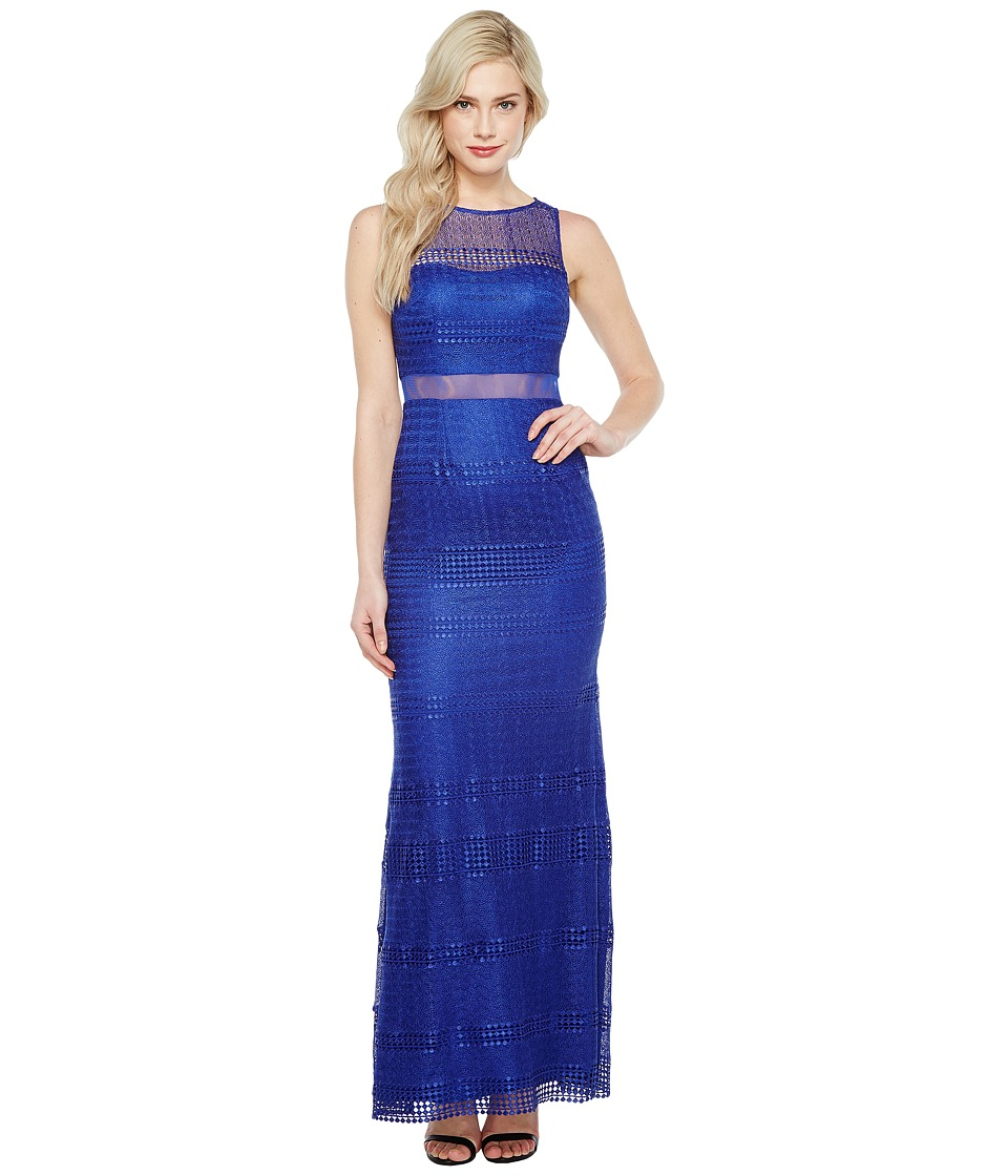 Adrianna Papell Lace Modified Mermaid Gown (Neptune) Women