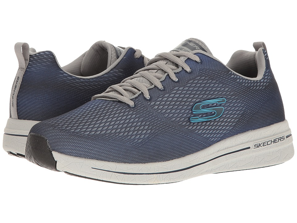 SKECHERS - Burst 2.0 Debore (Navy/Grey) Men's Shoes
