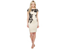 Adrianna Papell - Appliqued Lace Sheath Dress